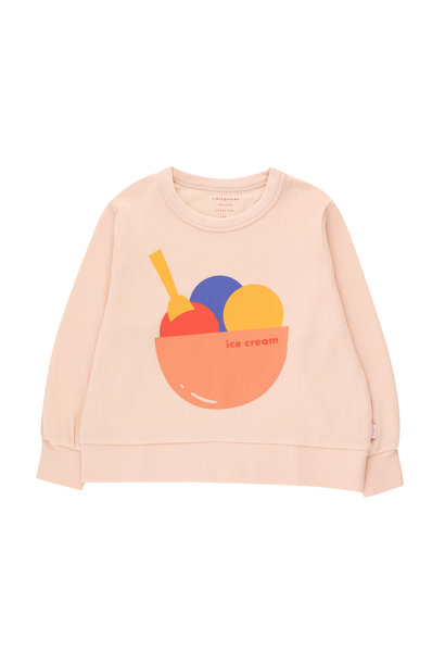 Ice cream sweatshirt - Pastel Pink / Light Papaya