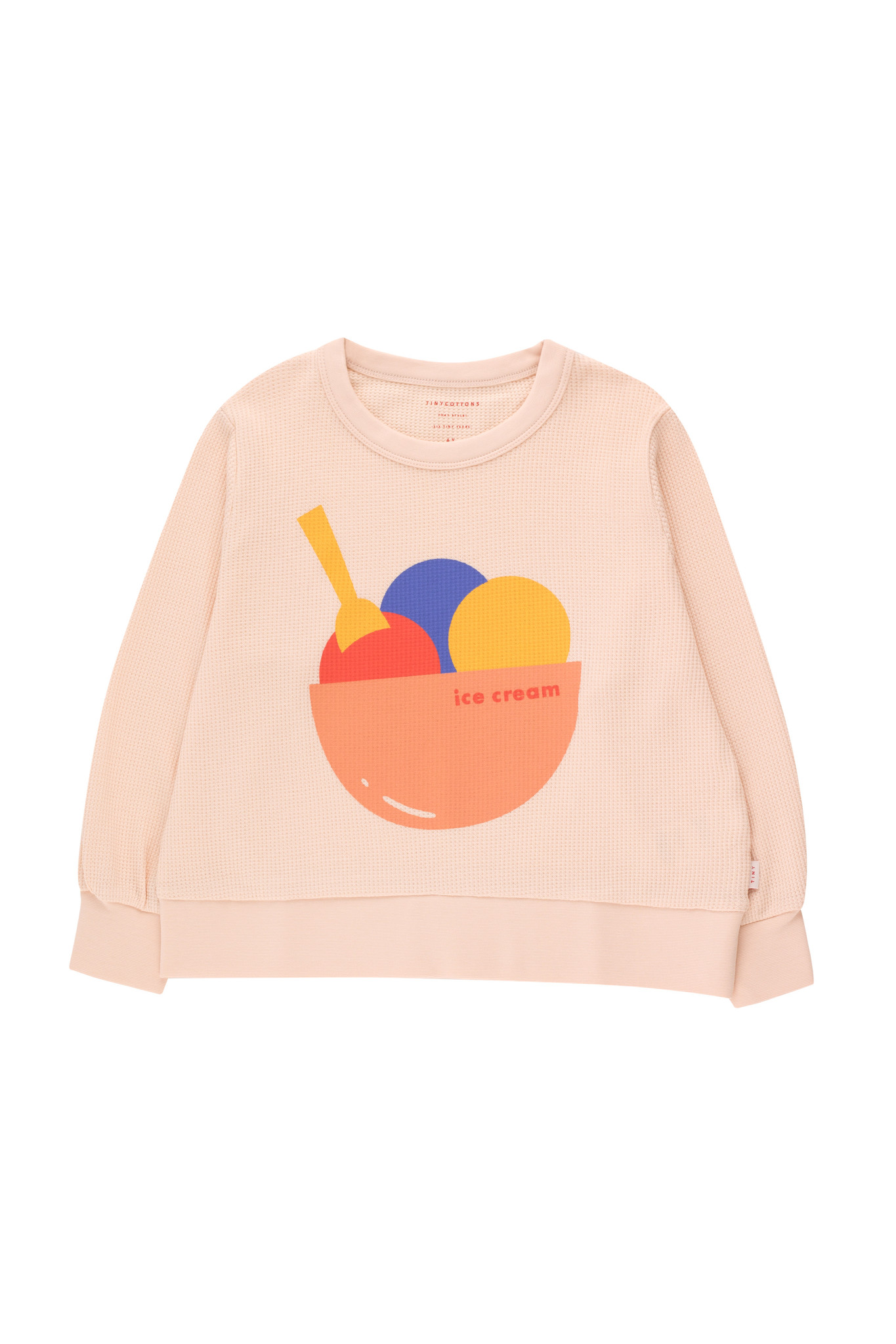 Ice cream sweatshirt - Pastel Pink / Light Papaya-1