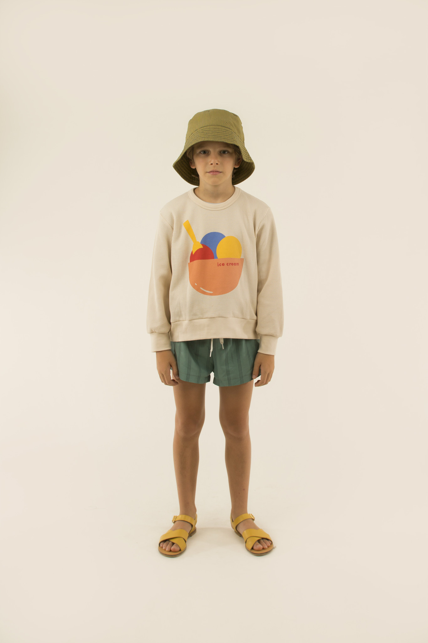 Ice cream sweatshirt - Pastel Pink / Light Papaya-2