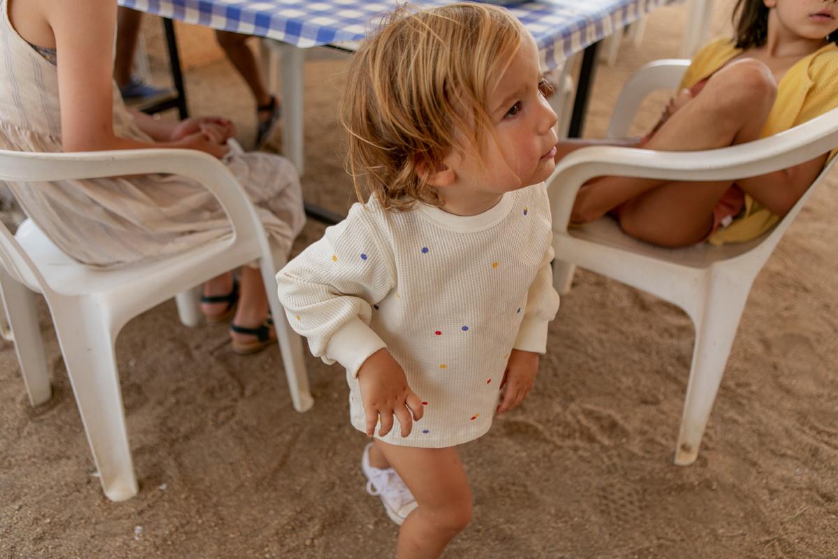 Ice cream dots baby sweatshirt - Off White-2