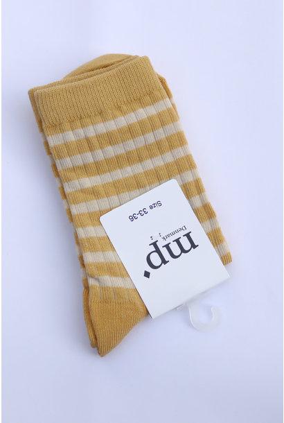 Sokken streep - Ochre