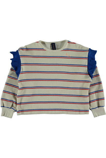 Sweatshirt baby Frill - Ivory