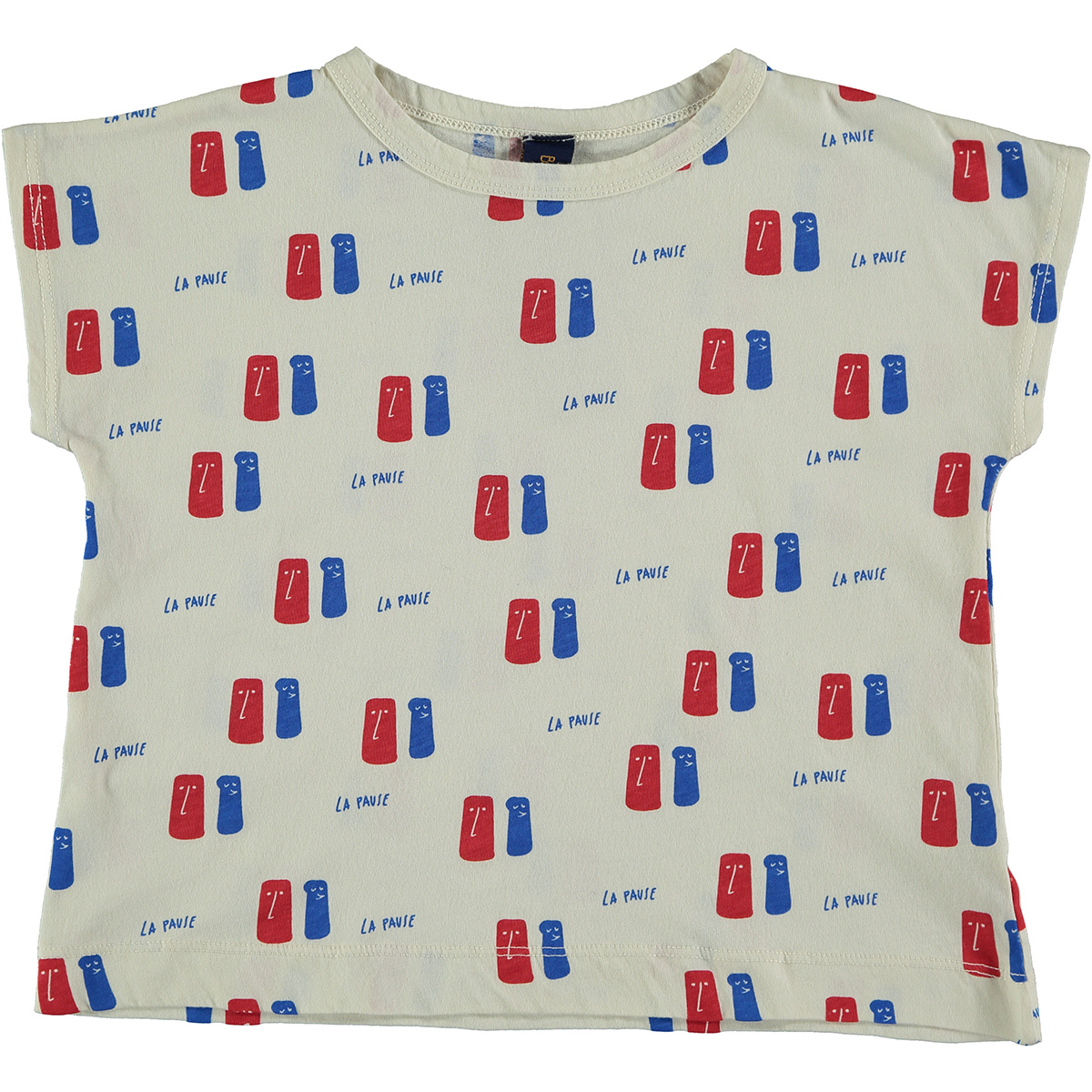 T-shirt La Pause - Ivory-1