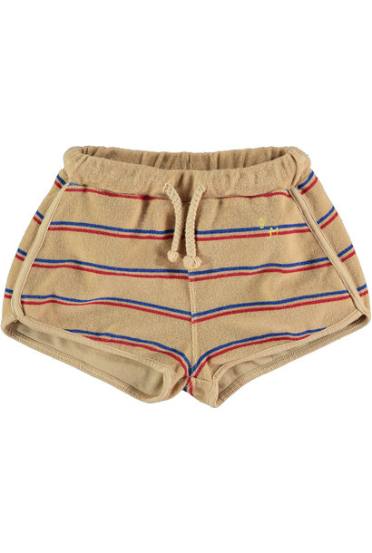 Short kid Stripes - Beige