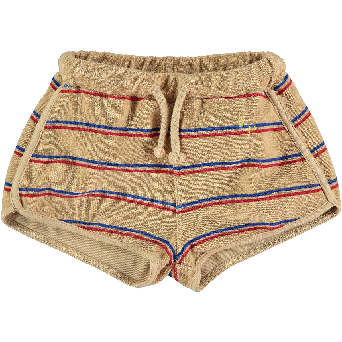 Short kid Stripes - Beige-1