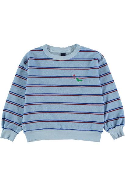 Sweatshirt baby Stripe - Light Blue