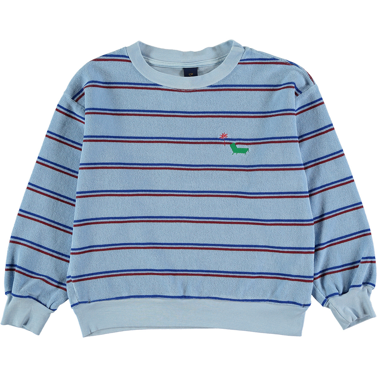 Sweatshirt baby Stripe - Light Blue-1