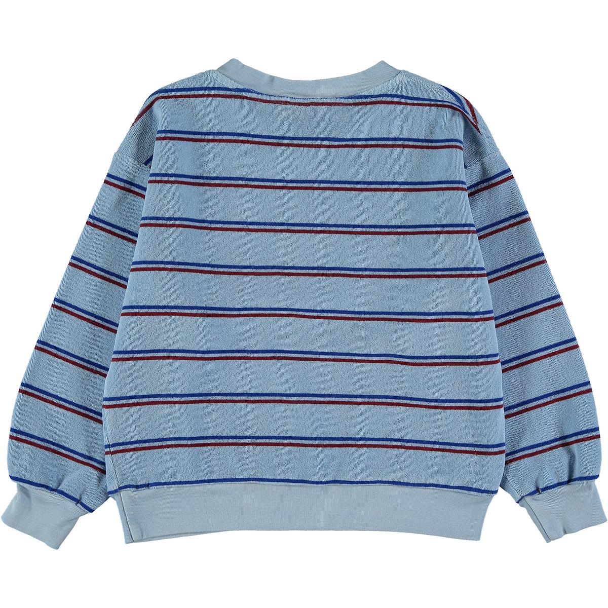 Sweatshirt baby Stripe - Light Blue-2
