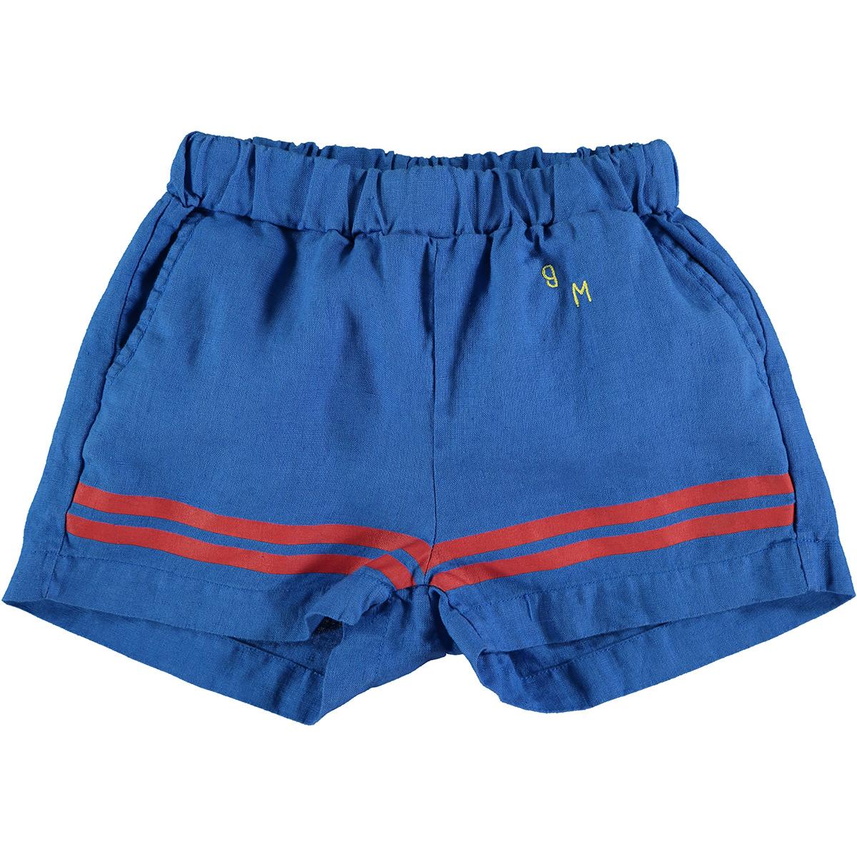Short baby stripes - Fresh Blue-1