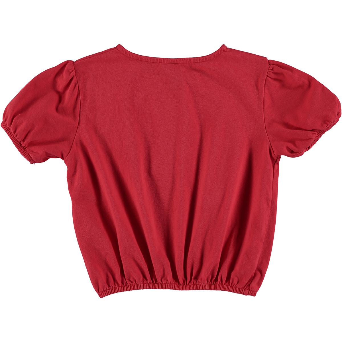 Crop T-shirt kid Bonmot - Red-2