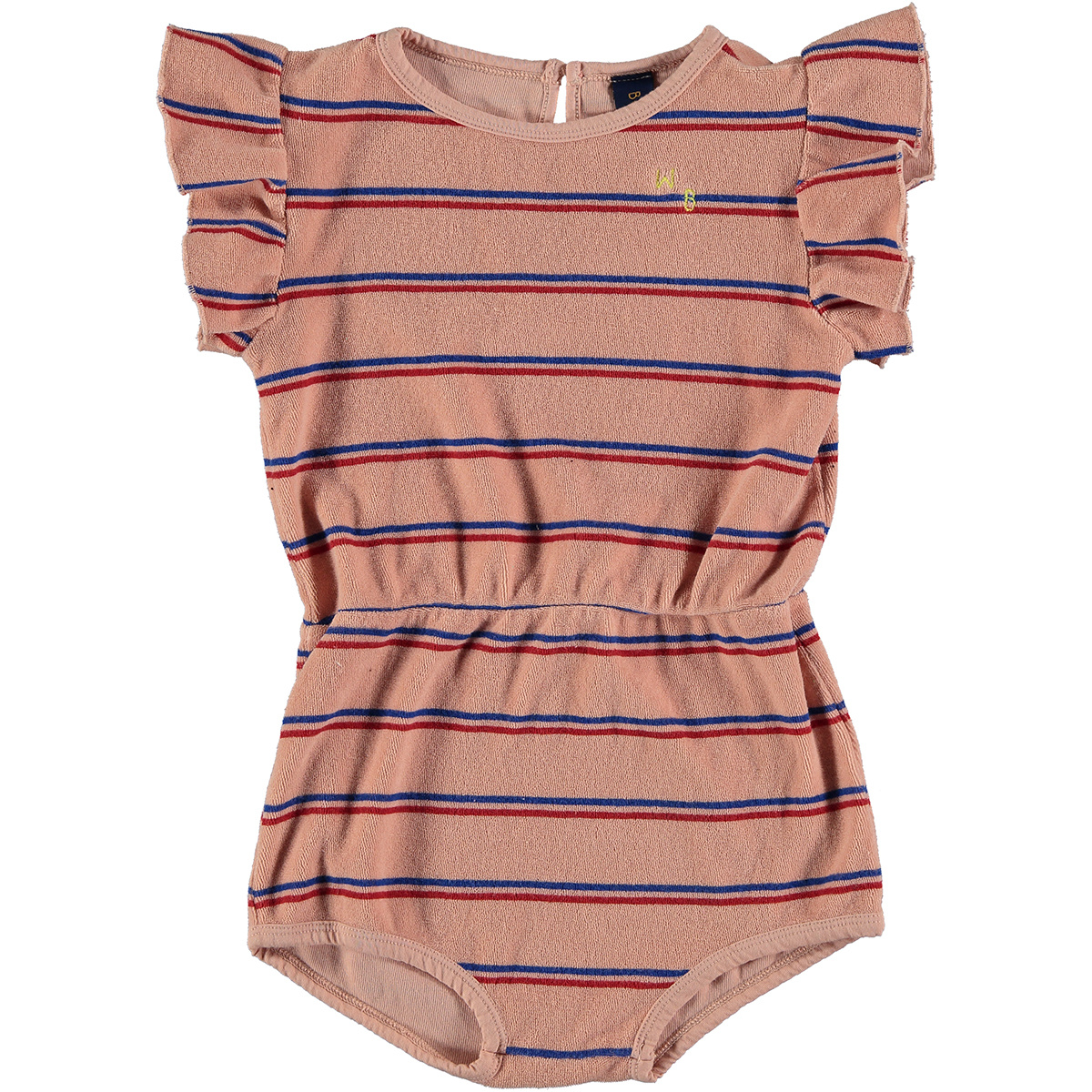 Playsuit baby Frill - Dusty Pink-1