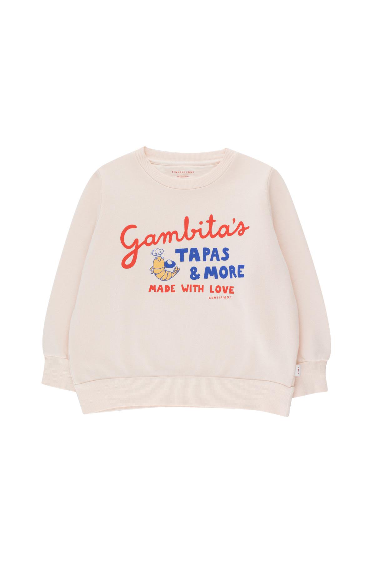 Gambitas sweatshirt - Light Cream / Red-1