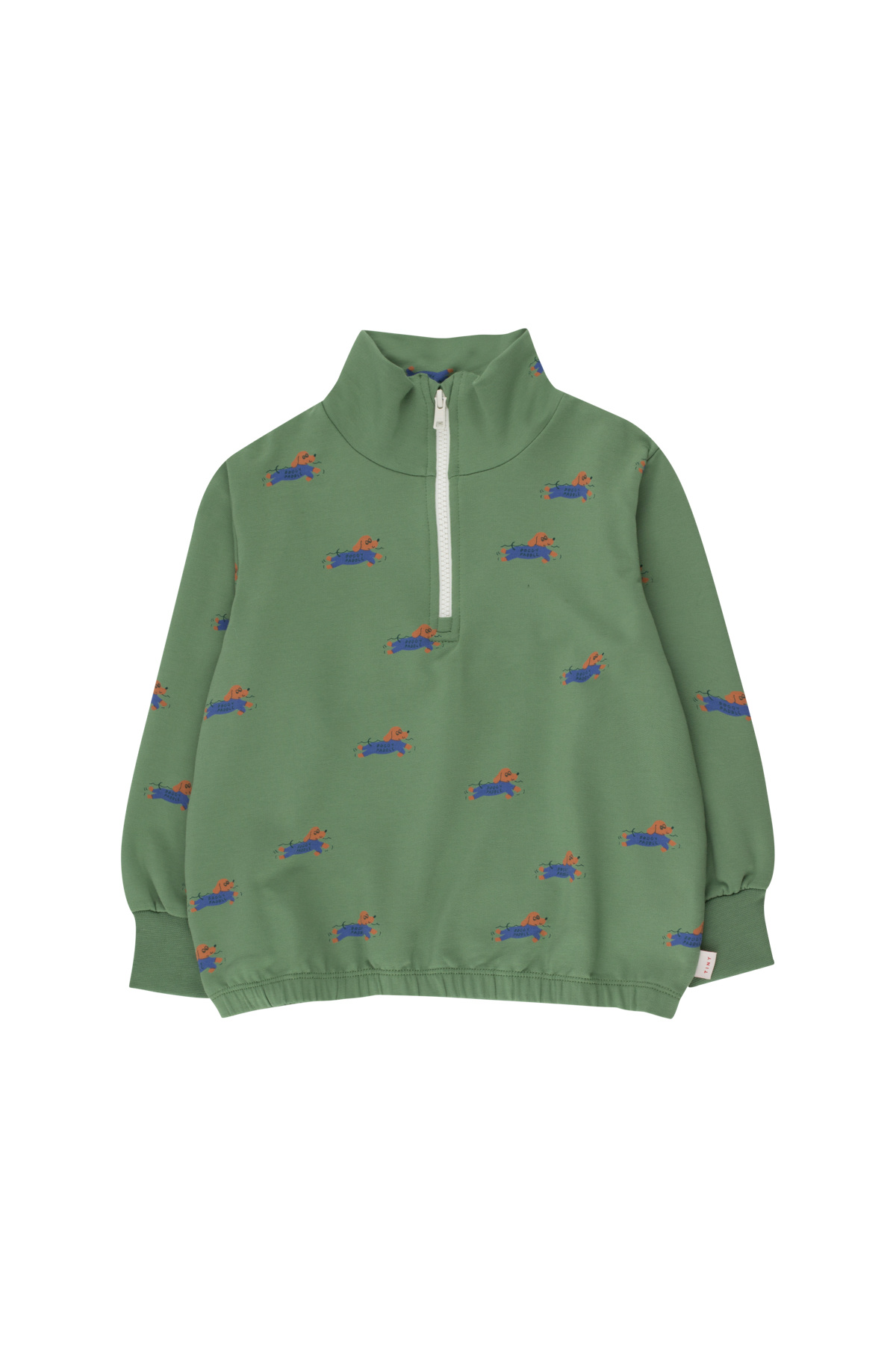 Doggy paddle mockneck sweatshirt - Green / Iris Blue-1
