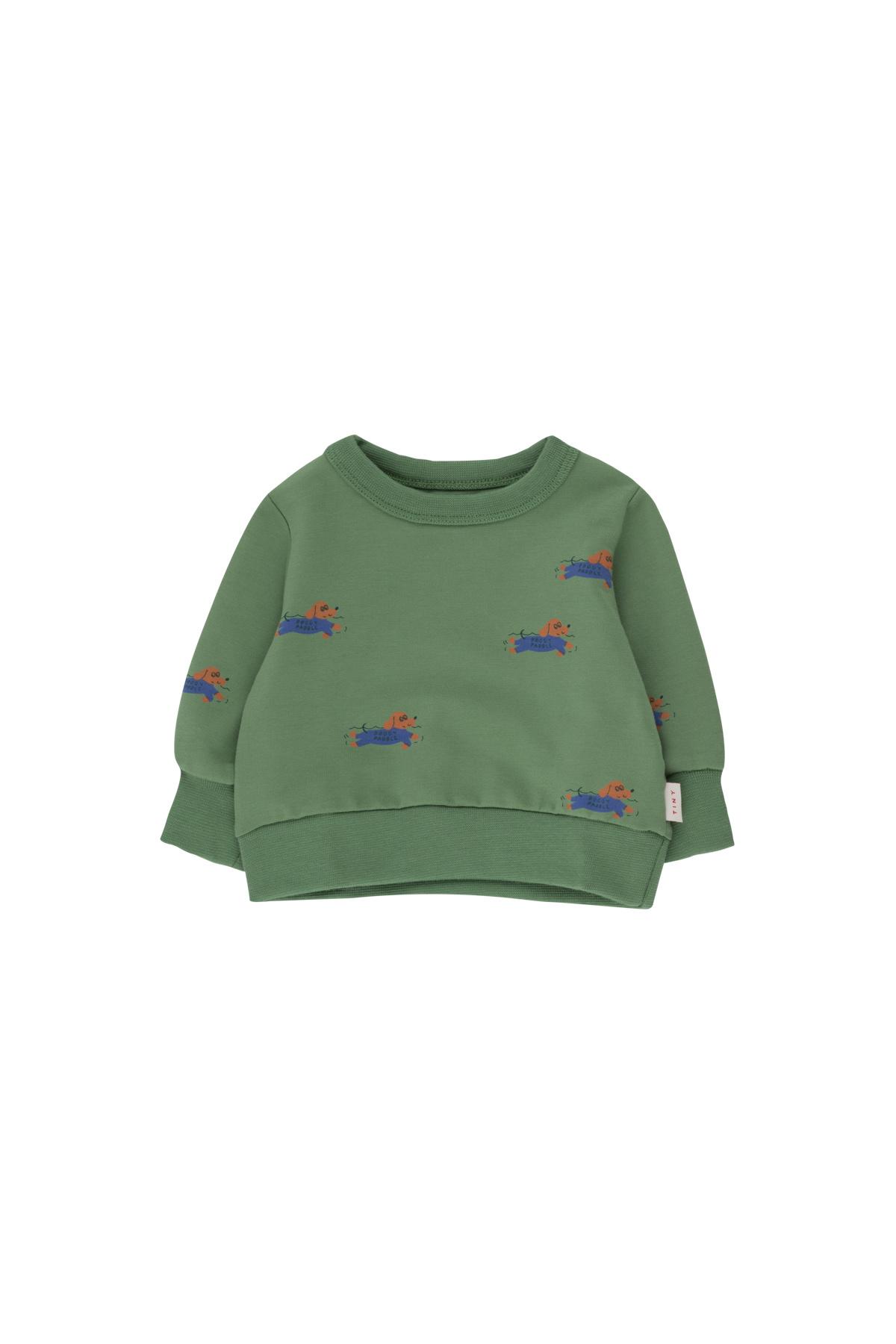 Doggy paddle sweatshirt - Green / Iris Blue-1