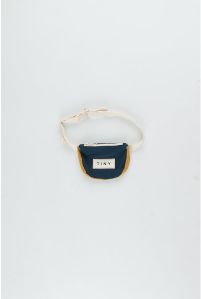 Tiny color block Fanny Bag - Ink Blue