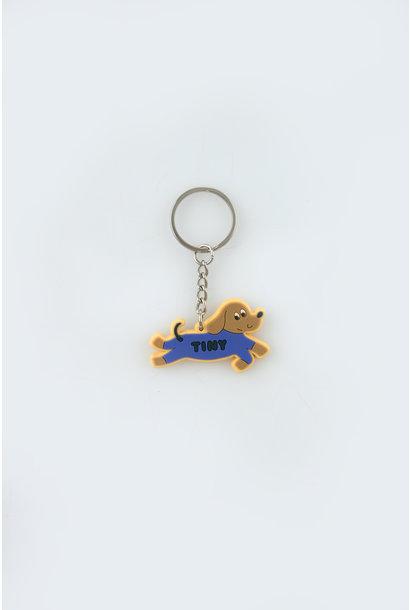 Doggy paddle key chain - Iris Blue
