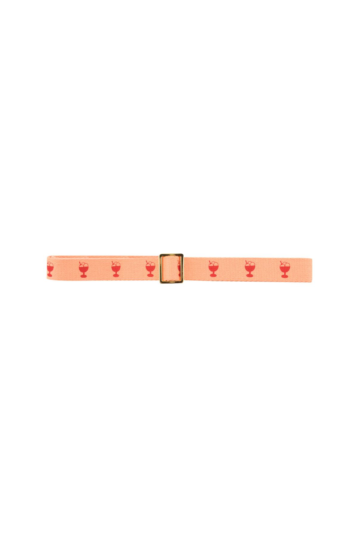 Ice cream belt - Light Papaya / Red-2