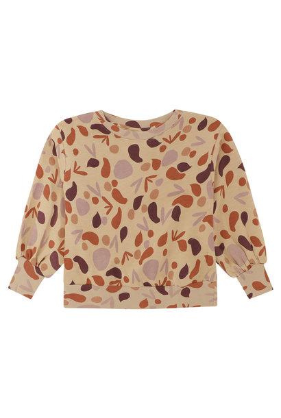 Elvira sweatshirt - Beige shapes