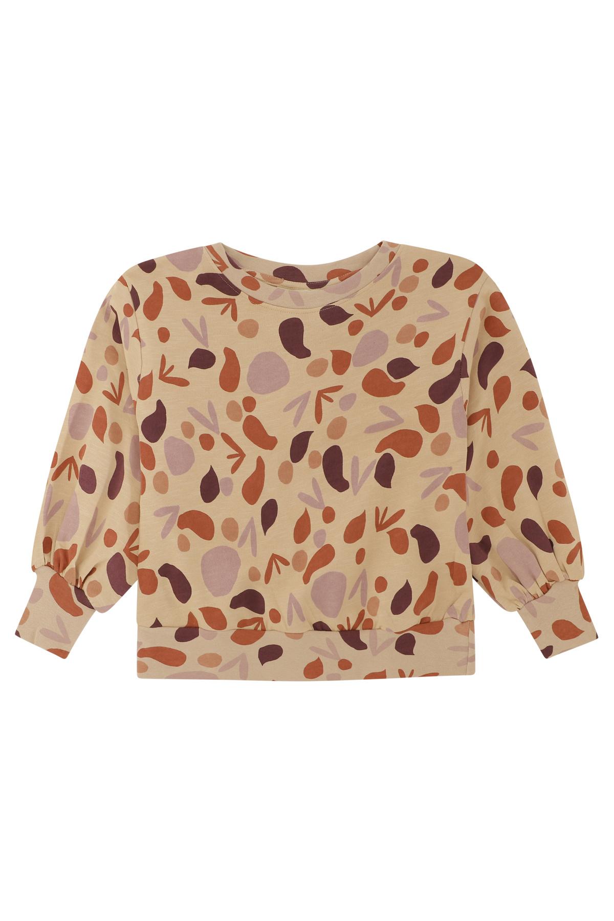 Elvira sweatshirt - Beige shapes-1