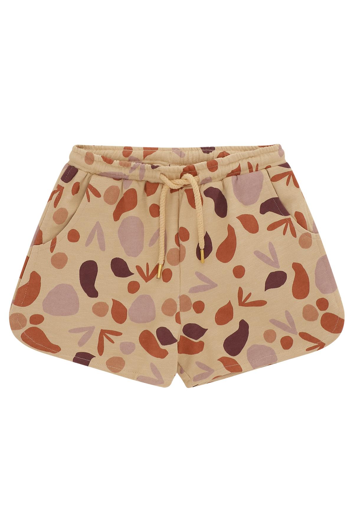 Paris shorts - Beige shapes-1