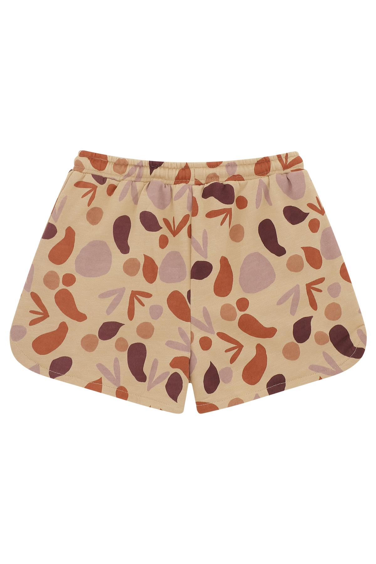 Paris shorts - Beige shapes-2