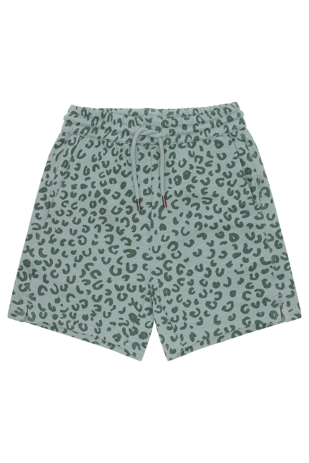 Hudson shorts - Slate Leopspot-1