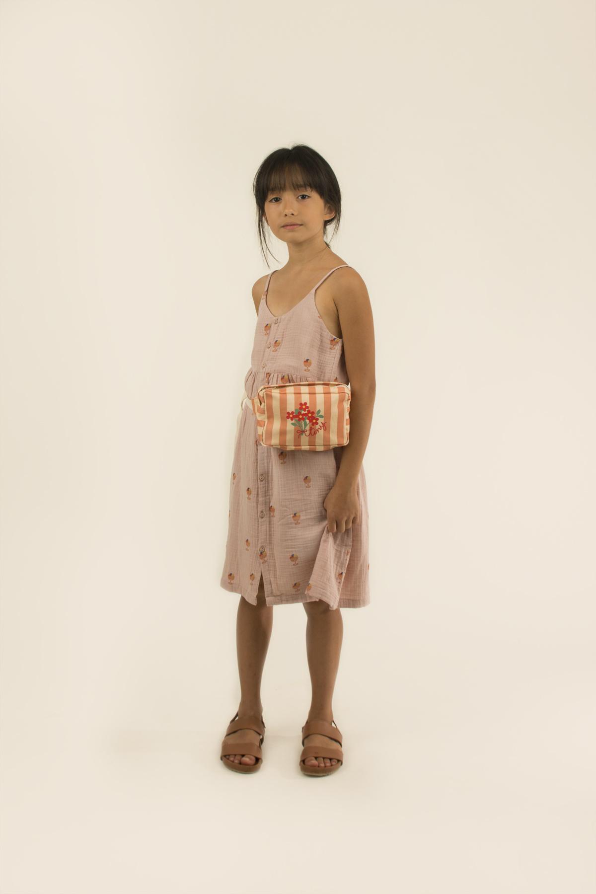 Ice cream cup dress - Dusty Pink / Papaya-2