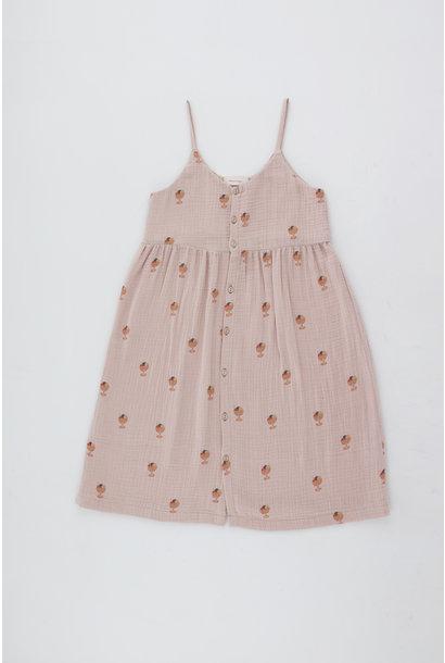 Ice cream cup dress - Dusty Pink / Papaya