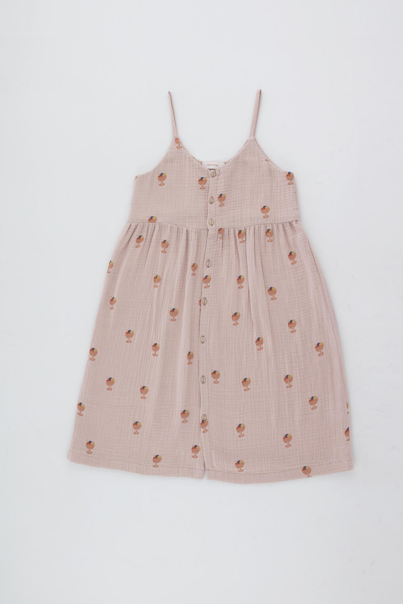 Ice cream cup dress - Dusty Pink / Papaya-1