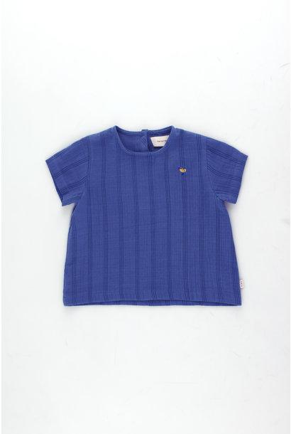 Bird baby shirt - Iris Blue / Ink Blue