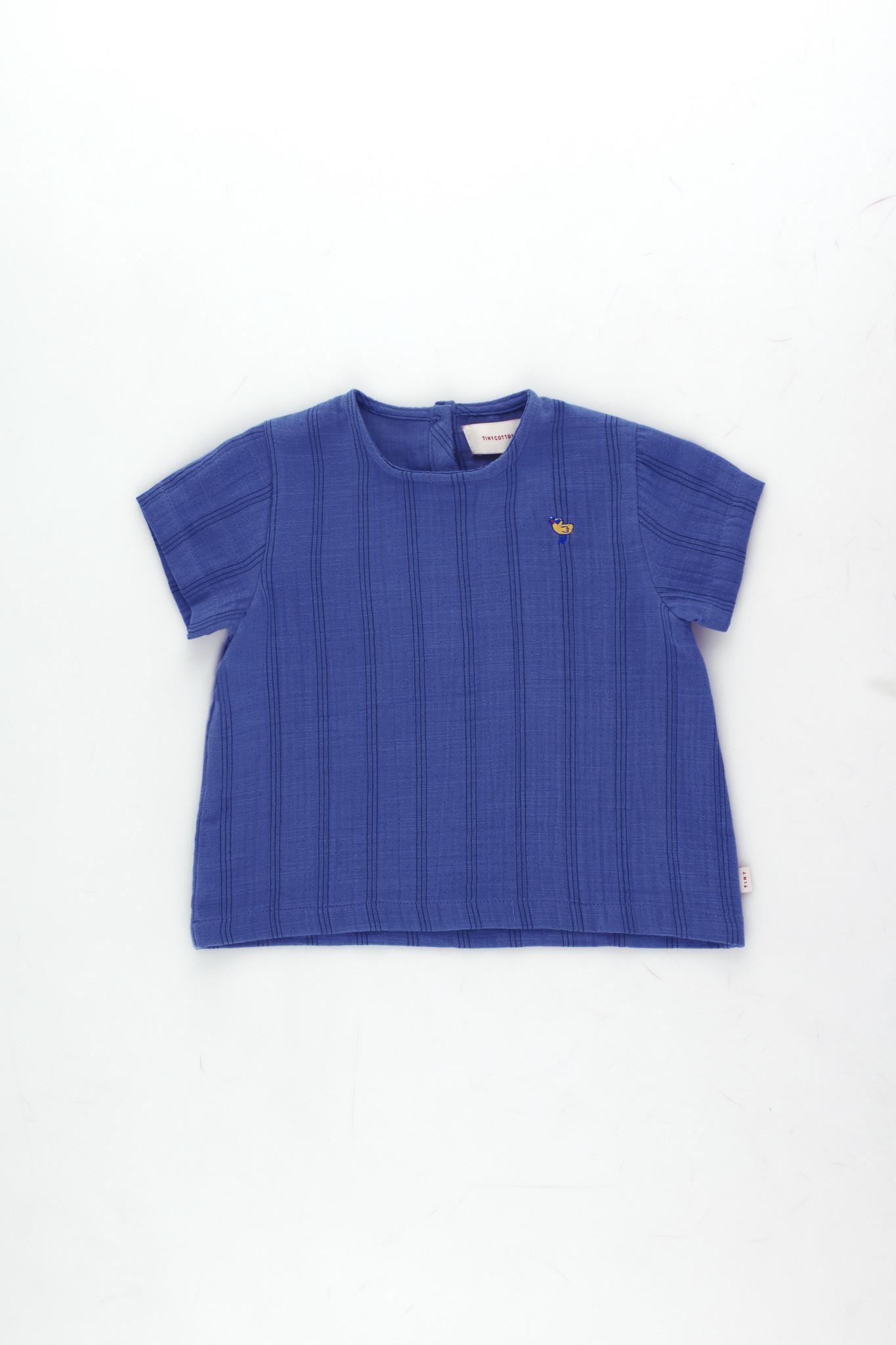 Bird baby shirt - Iris Blue / Ink Blue-1