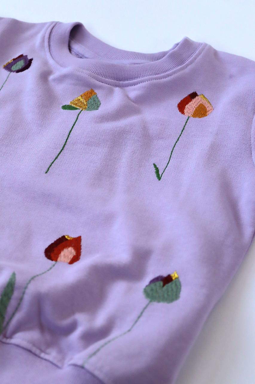 Baptiste sweatshirt - Lavender Frost-2