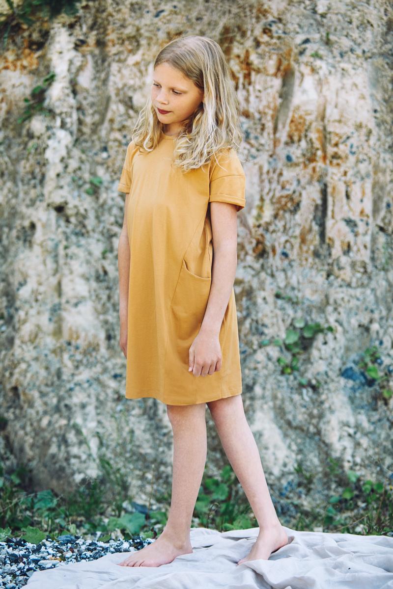 T-shirt dress - Light Ochre-2