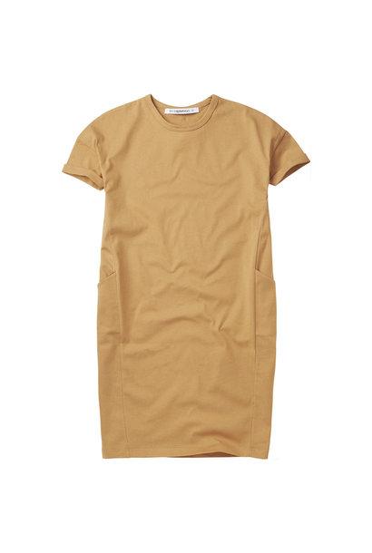 T-shirt dress - Light Ochre