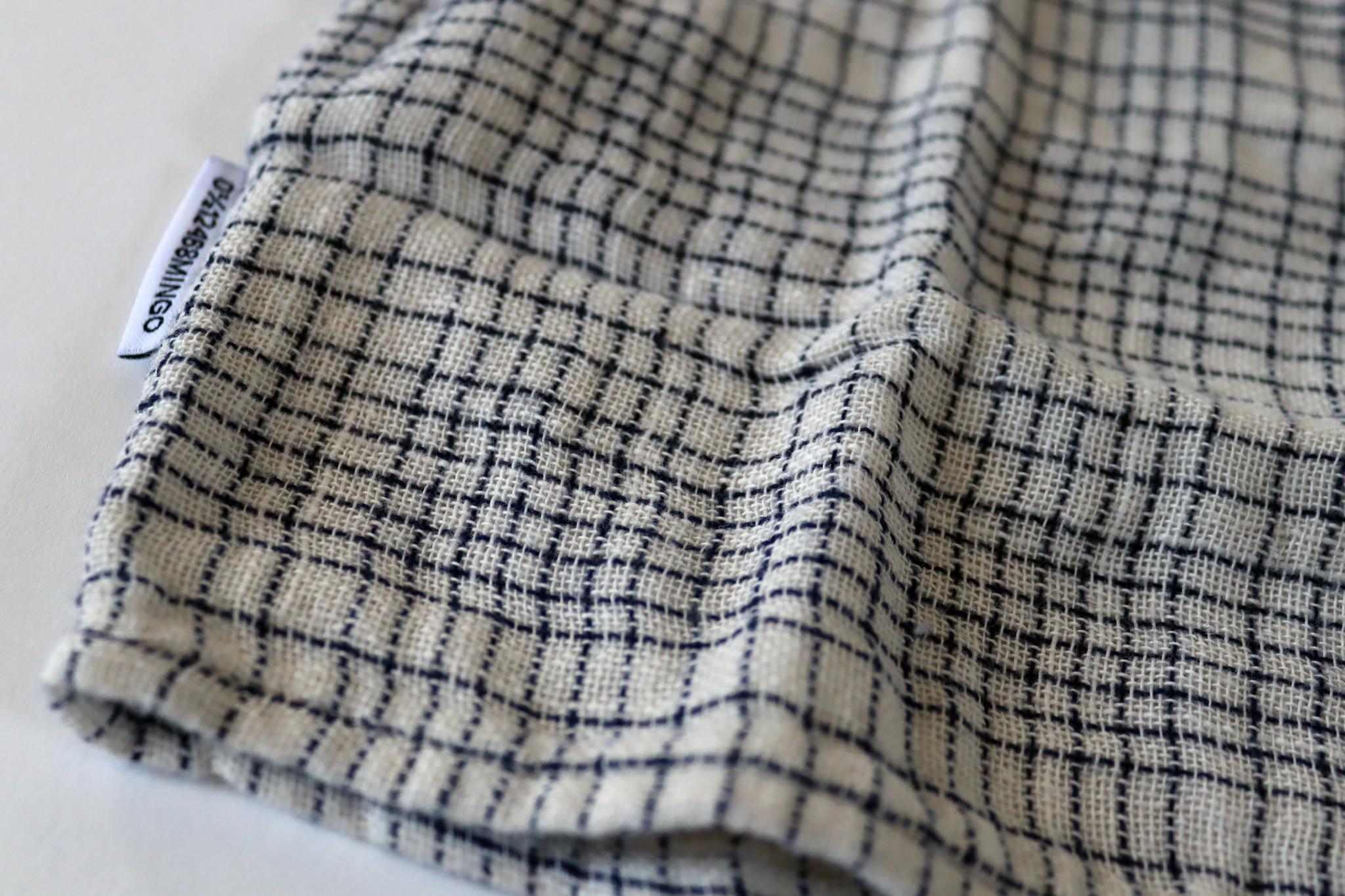 Dress - Block pattern White/Blue-3
