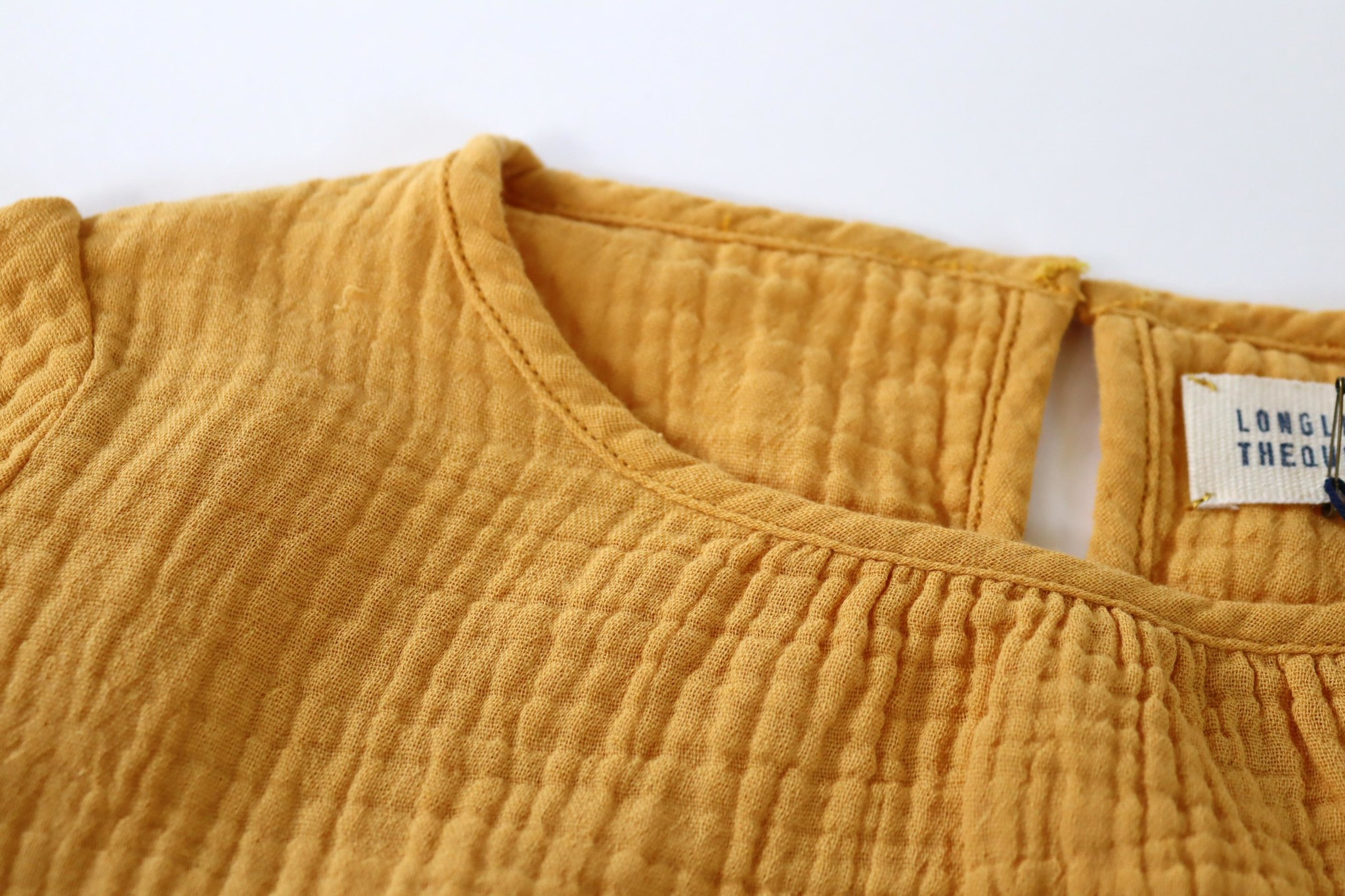 Crinkle blouse - Dirty Yellow-2