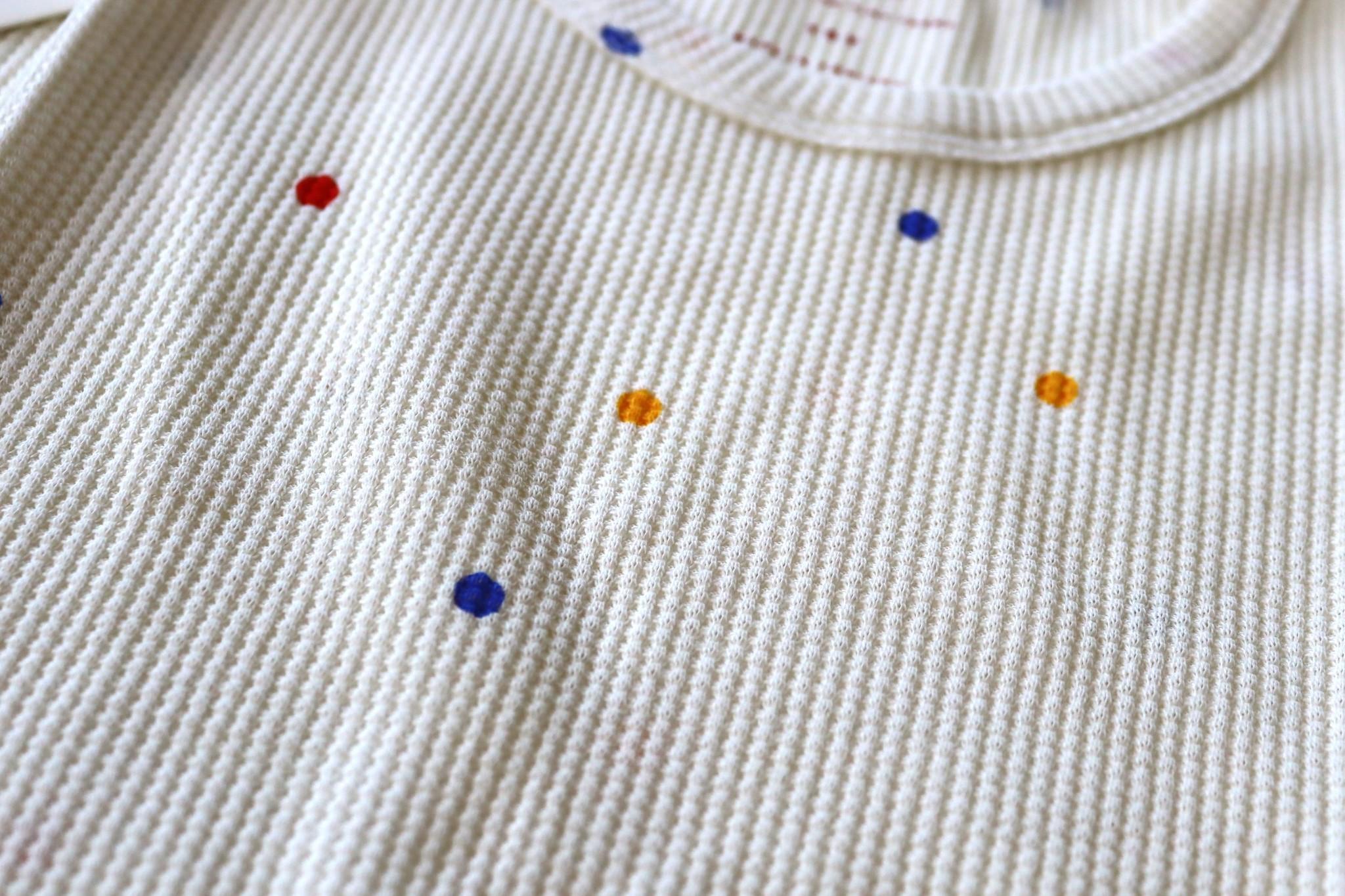 Ice cream dots baby sweatshirt - Off White-3