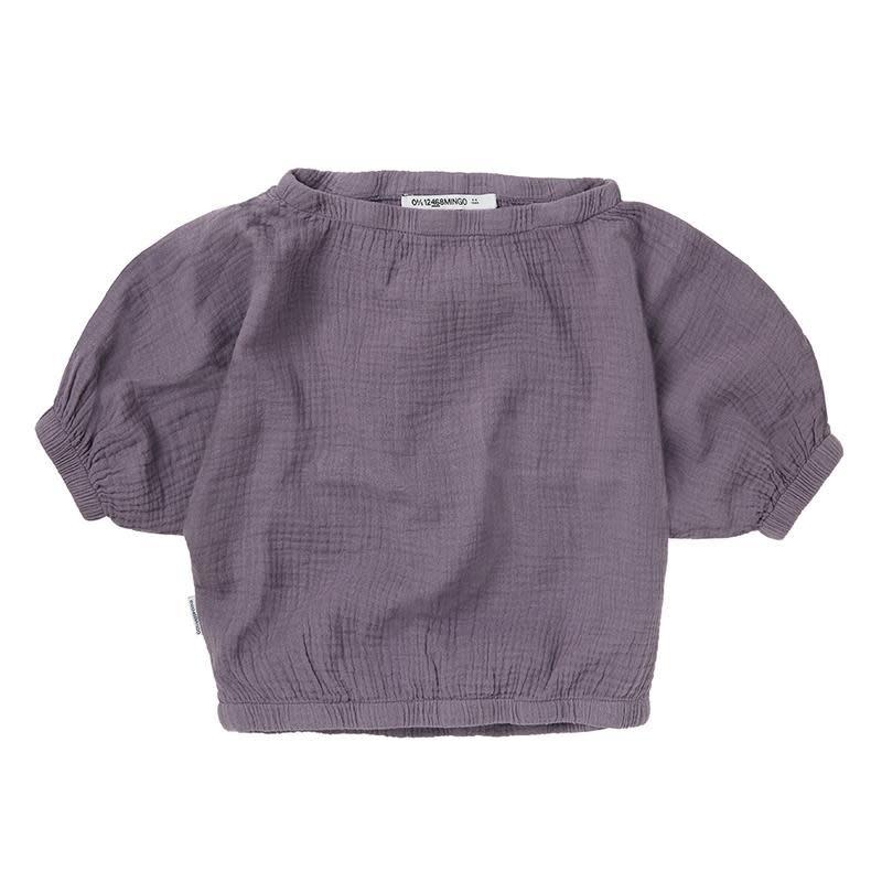 Muslin crop top - Lavender-1