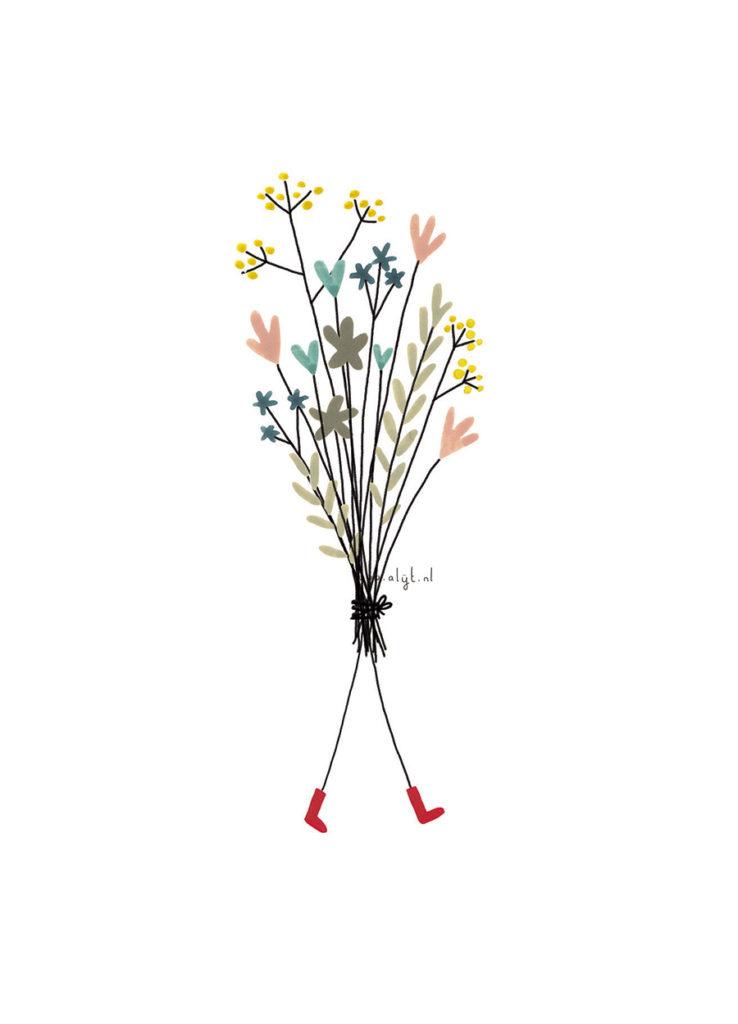 Ansichtkaart - Bosje bloemen-1