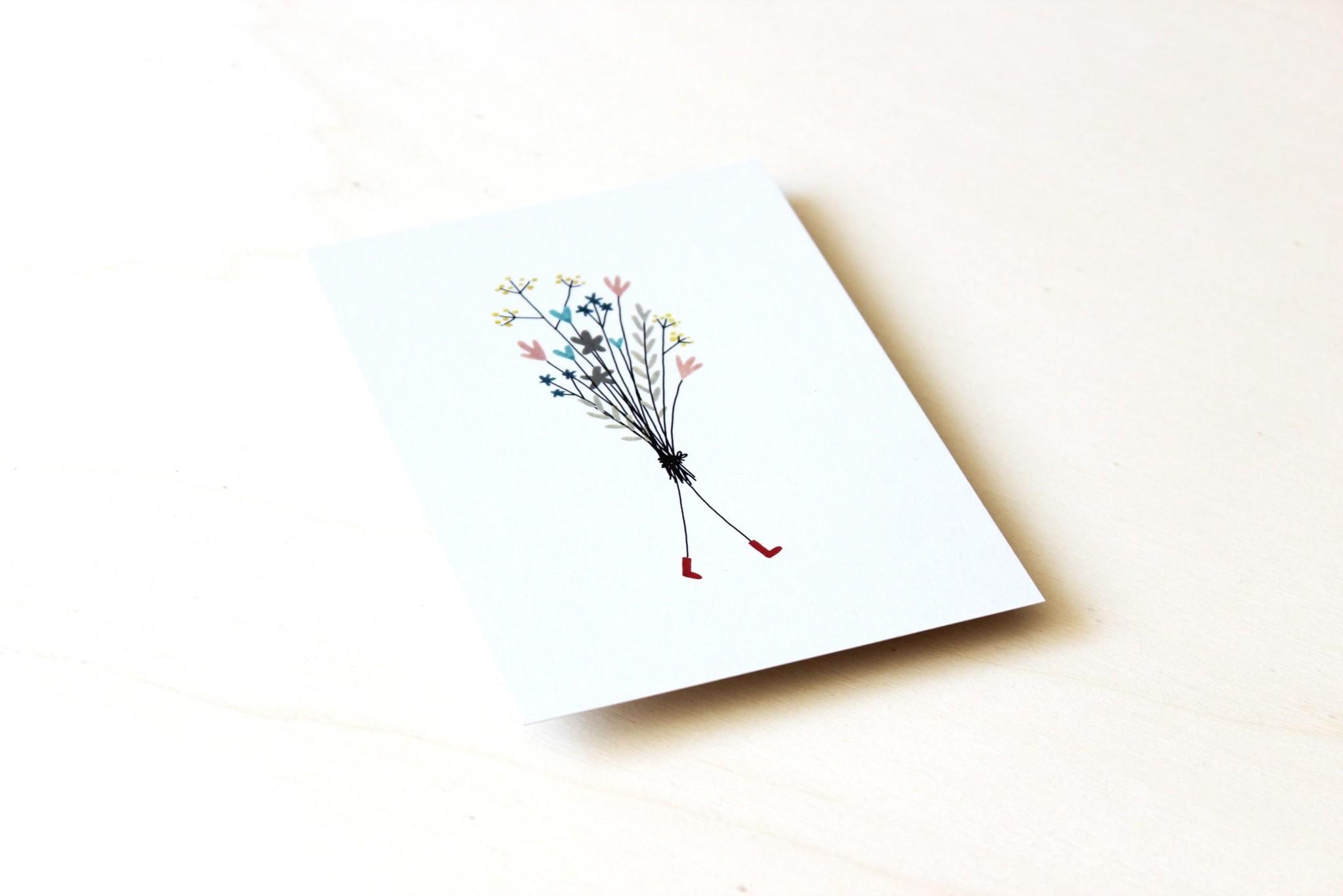 Ansichtkaart - Bosje bloemen-2