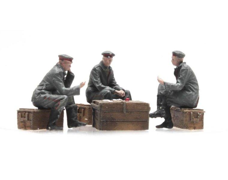 Kaartspelende soldaten Deutsches Heer