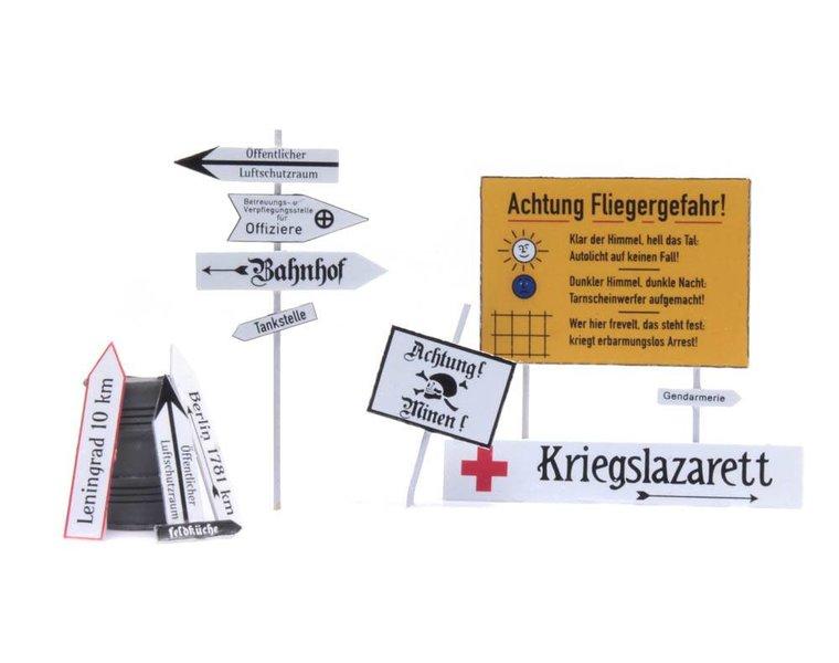 Deutsch Straßenschilder 1940-1945