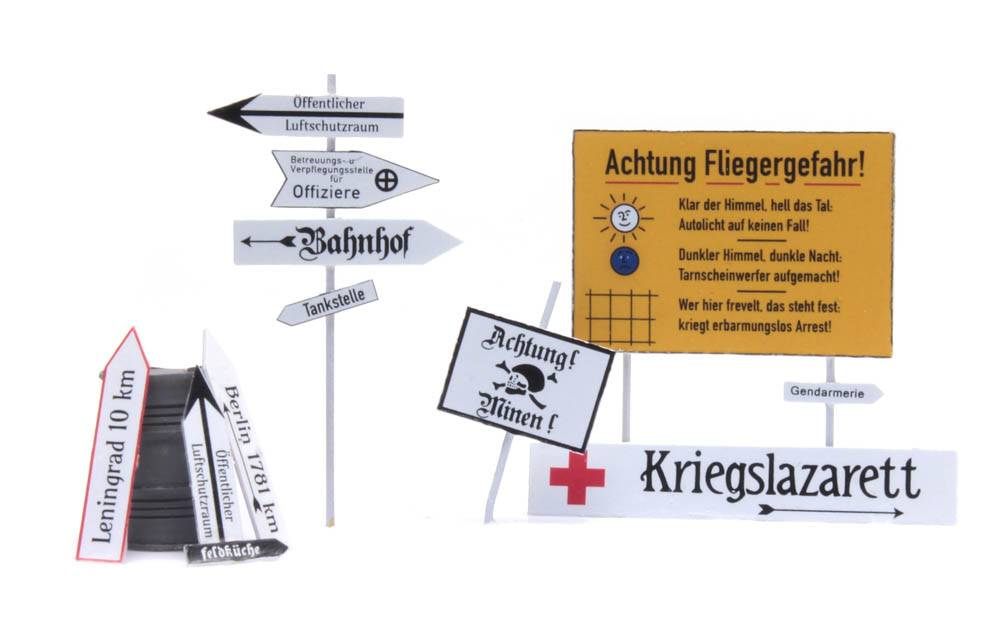 Duitse straatborden 1940-1945