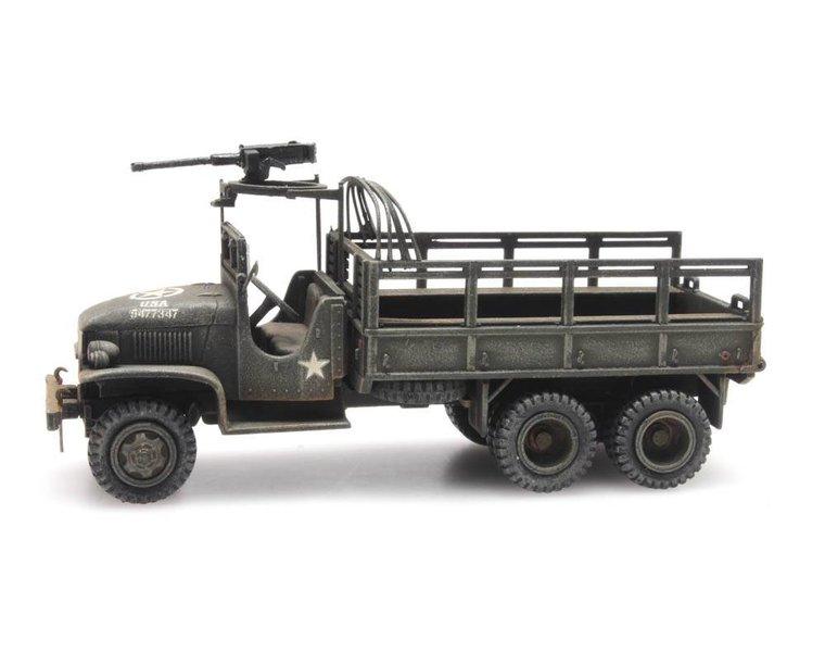 GMC 353 open cab cargo 1 machine gun