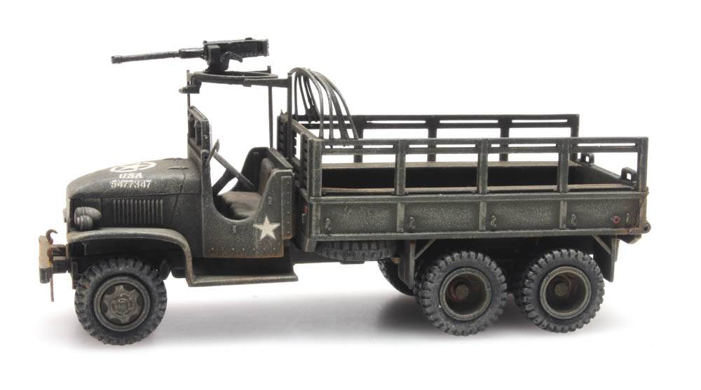 GMC 353 open cab cargo 1 machine gun
