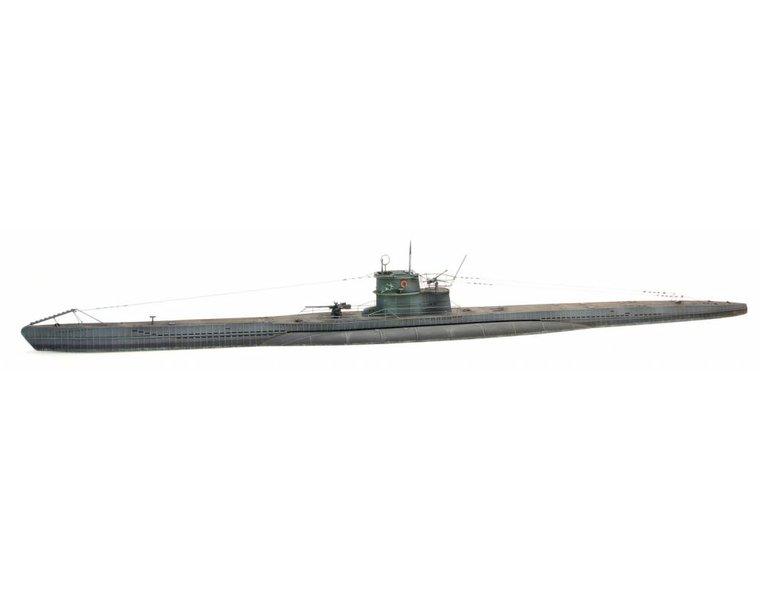 German Type VIIC submarine waterline