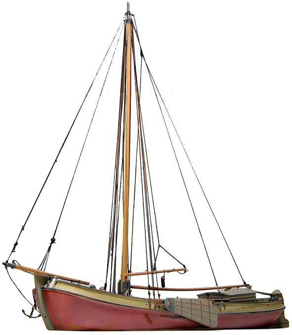 """Tjalk """"Two Brothers"""" cargo carrying sailboat - resin kit - 1:87"""