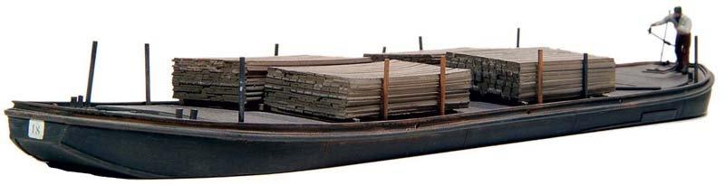 Towed barge - resin kit - 1:87