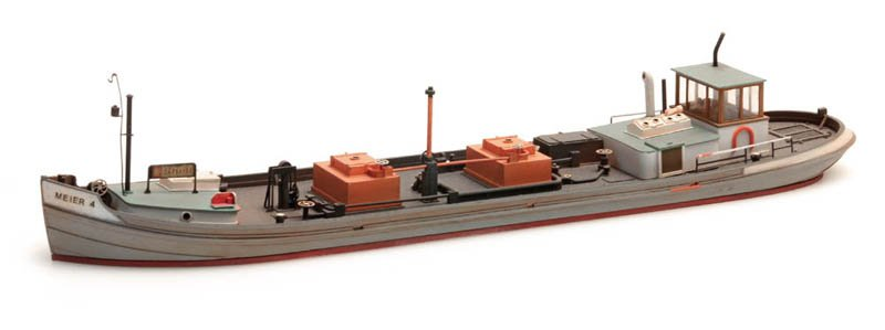 Kanaaltankboot - resin bouwpakket - 1:87