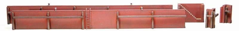 Kademuur uit baksteen, 1:87, bouwpakket uit resin, ongeverfd